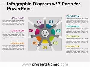 Infographic Diagram With 7 Parts For Powerpoint