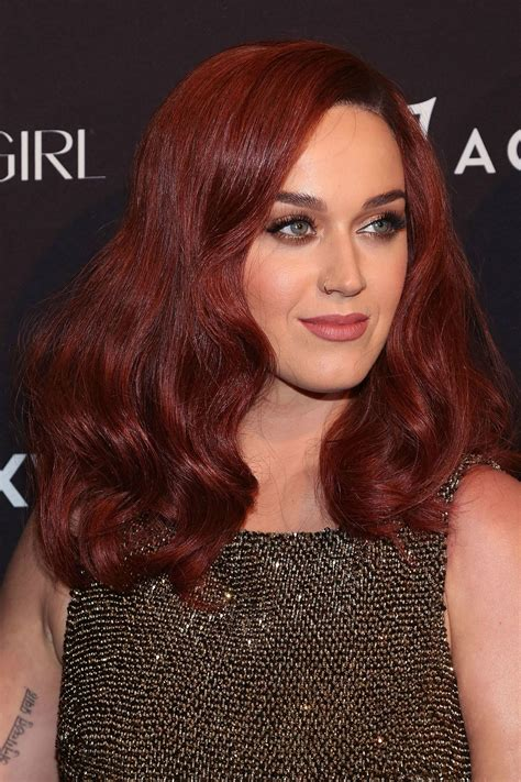 Katy Perrys New Auburn Hair Celebrity Beauty News Glamour