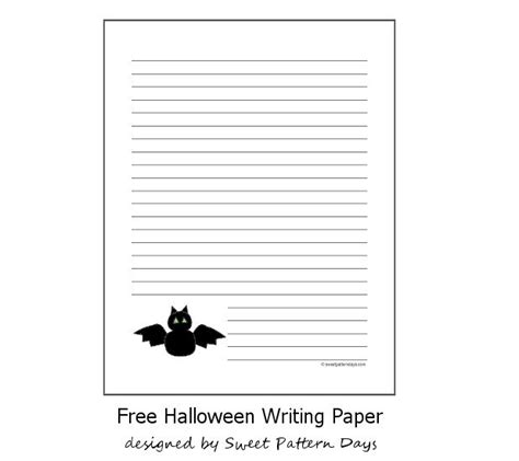 halloween bat writing paper lined writing paper