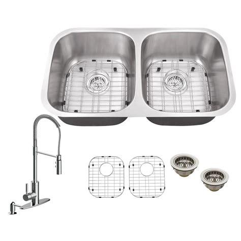 schon kitchen sinks schon all in one undermount stainless steel 32 in 0