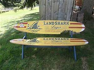 Landshark Lager mini Surfboard beer tap handle Frompo