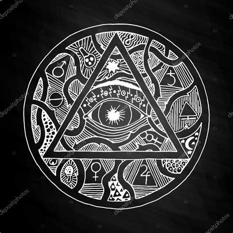 spirituelle symbole tattoos todo o olho o projeto s 237 mbolo pir 226 mide na lousa vetor de stock 169 gennadiikorchuganov 112968140