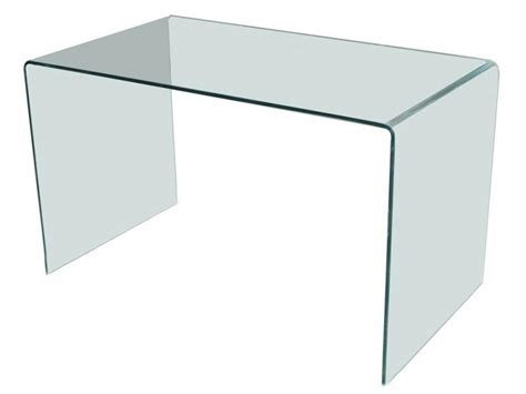 table bureau en verre bureau design en verre courbé transparent d 39 un seul