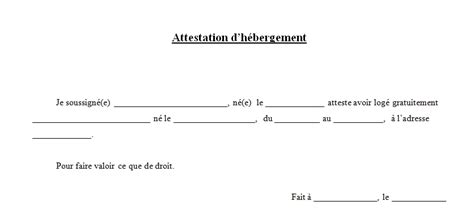 attestation hebergement modele word t 233 l 233 chargements archive externalisez votre secr 233 tariat
