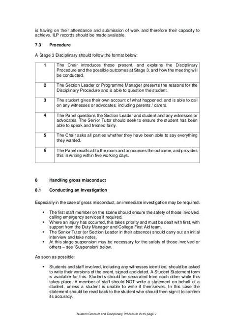 disciplinary report format aikenexplorercom
