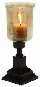 small antique style hurricane candle holder brown square With kitchen cabinets lowes with small hurricane candle holders
