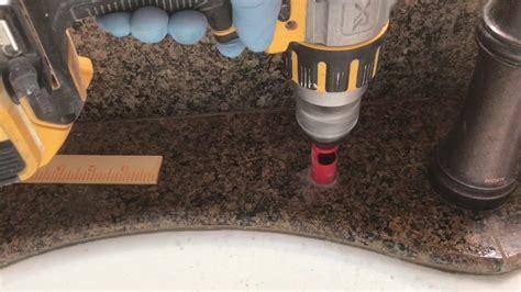 drill  hole  granite kitchen sink youtube