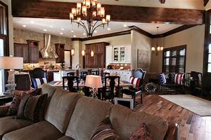 Lodge Inspired Residence - Open Concept Kitchen, Dining