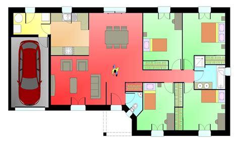 maison plein pied 4 chambres plan maison 4 chambres plan maison plans