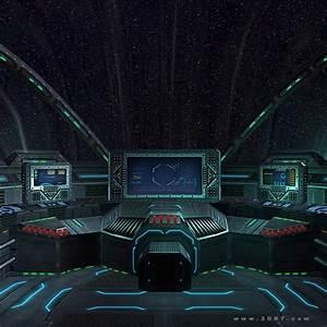 3D model 3DRT - Sci-Fi Spacecraft Cockpit 5 VR / AR / low ...
