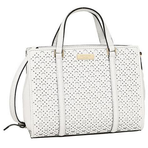 authentic kate spade newbury lane mini romy caning leather handbag satchel bright white