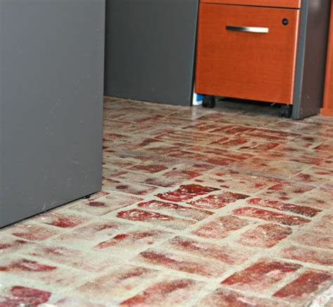 faux brick tile flooring i told you about my painted floors media home