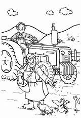 Coloring Farmer Farm Couple Pages Coloringsky Sheets Drawing sketch template