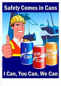 Safety Poster : Safety Comes in Cans Safety Poster Shop