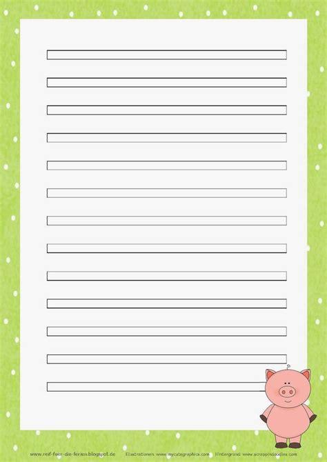 Linienblatt a4 linienblatt a4, vergleichen. Abschreibblätter Klasse 3 - Schweinchen-Kartei   Kartei, Reif für die ferien, Briefpapier