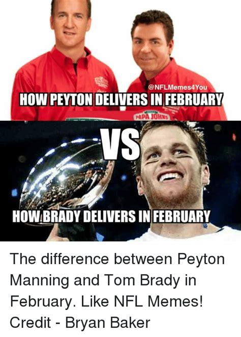 Brady Manning Meme - funny meme memes peyton manning and tom brady memes of 2016 on sizzle