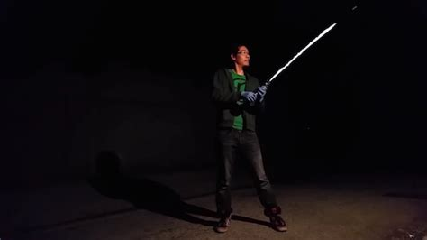 watch man creates real life lightsaber that can burn
