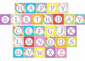 items similar to digital rainbow happy birthday banner With party banner letters