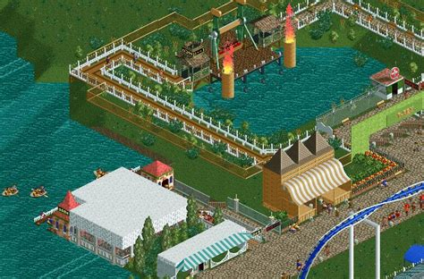 Paddle Boats The Woodlands by Theme Park Review Woodland Heights Rct2 Page 3