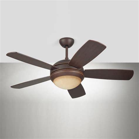 long downrod ceiling fan shop monte carlo fan company discus ii 44 in roman bronze