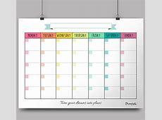 Printable Calendar With No Month – Calendar Template 2018