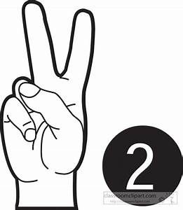 American Sign Language Clipart- sign-language-number-2 ...