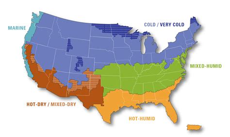 Climate North America Climate Zones Map