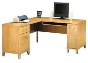 bush somerset collection 60 inch l desk maple cross wc81430 03
