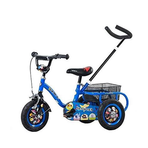 Tauki Kids Tricycle with Adjustable Push Bar and