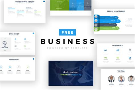 Free Business Powerpoint Template On Behance