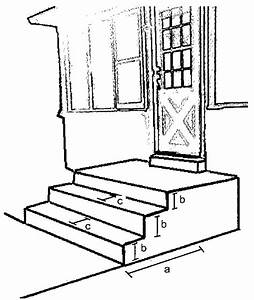 Stair  U0026 Porch Ramp Plan Dimensions A  Total Number Of Stairs  Risers B  Individual Riser Height
