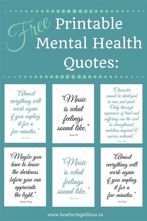 Mental Health Quotes Free Printable Mental Health Quotes Hleguilloux Based On