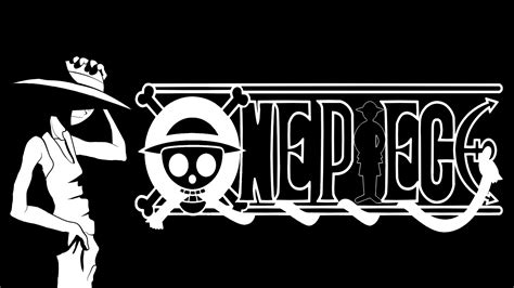 One Piece Black And White Background #5887 Wallpaper