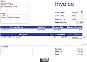 Create invoice template online free hardhostinfo for How to make invoice online