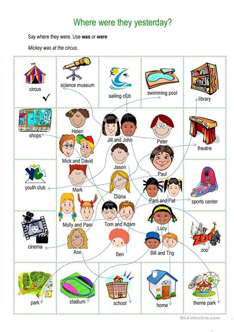 Where Were They Yesterday Worksheet  Free Esl Printable Worksheets Made By Teachers