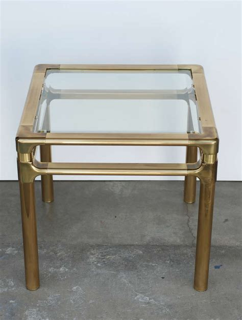 square brass side table brass mastercraft square end or side table at 1stdibs