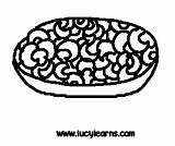 Macaroni Cheese Clipart Coloring Sheet sketch template