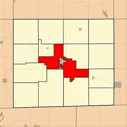 Township Iowa Svg Cleveland Davis County Highlighting