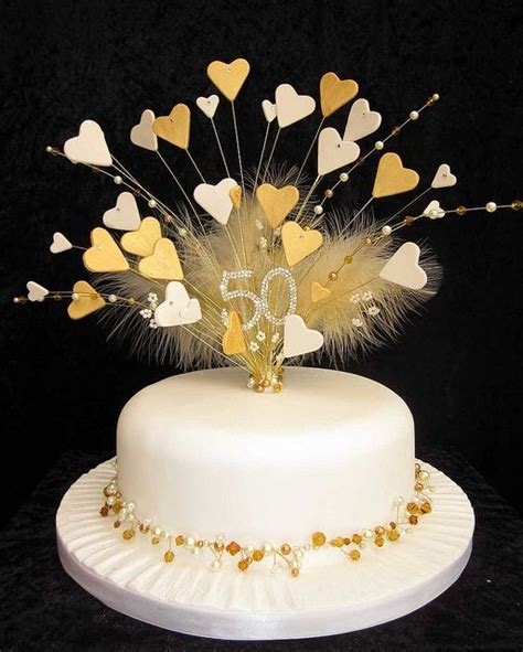 golden wedding anniversary cake topper flickr