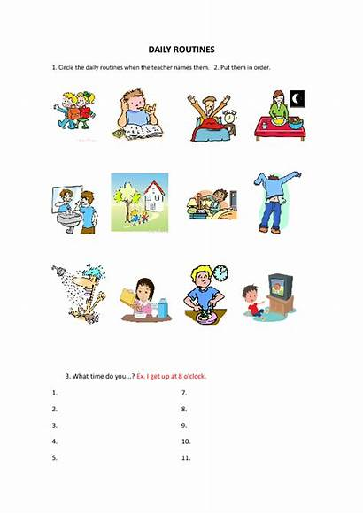 Daily Worksheet Activities Routines Worksheets Students English