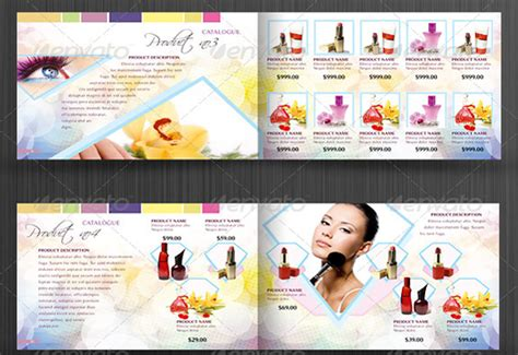 beautiful cosmetic catalog templates  marketing