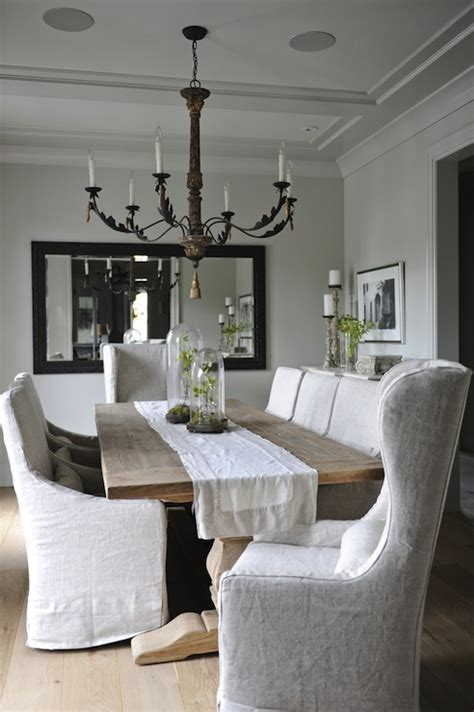 slipcovers for armed dining room chairs dining chairs linen slipcovered dining chairs