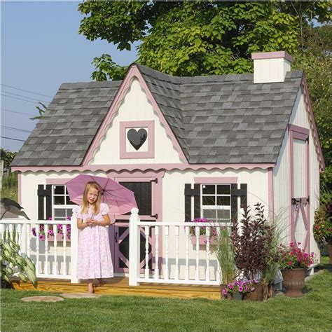 playhouse kits victorian 8 x8 childrens wood playhouse kit w floor by little cottage company ebay