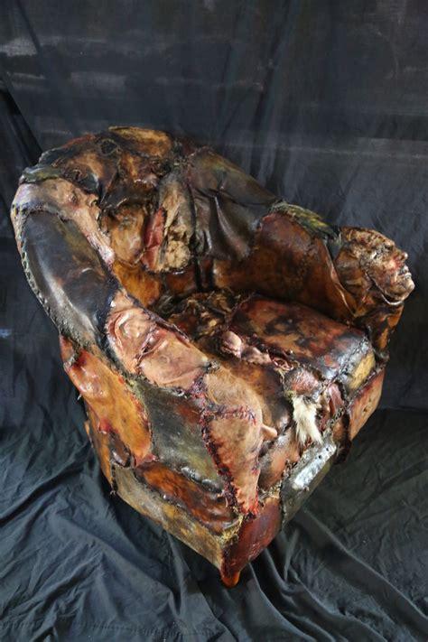 custom ed gein chair ed gein lounge human skin chair world of arts