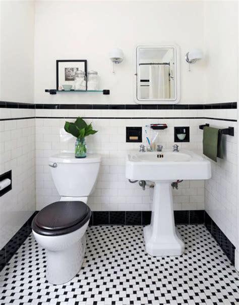 bathroom tile ideas black and white 31 retro black white bathroom floor tile ideas and