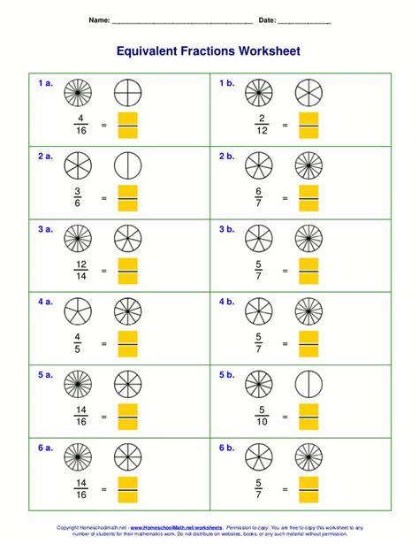 equivalent fractions worksheet word problems equivalent