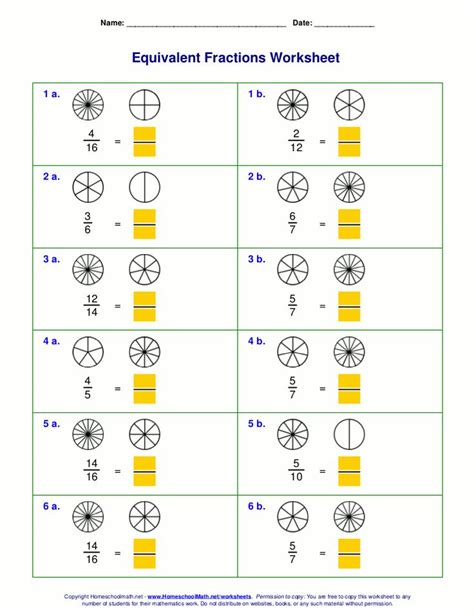 Free Equivalent Fractions Worksheets With Visual Models  Help  Fractions Worksheets