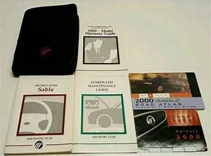 2000 Mercury Sable Owners Manual User Guide Sedan Wagon Ls