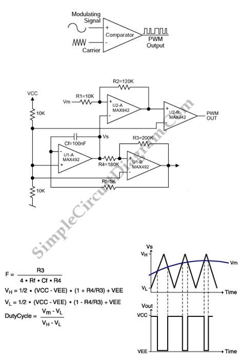 Pwm Modulator Using Amp Simple Circuit Diagram