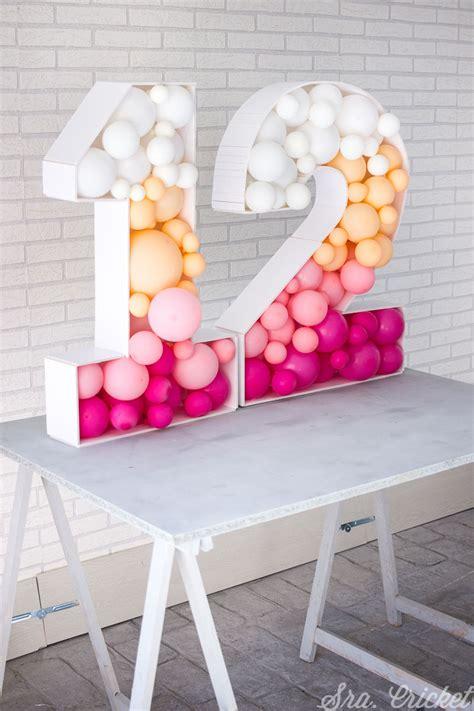 como hacer letras  numeros  gigantes  rellenar